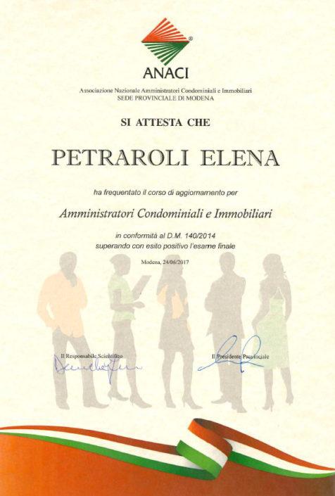 Corso aggiornamento 2017 Elena Petraroli