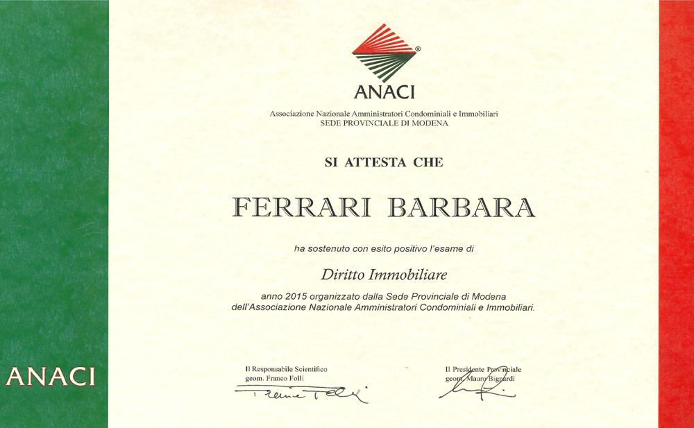 Corso Diritto Immobiliare Barbara Ferrari