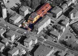 """vista aerea del condominio """"ex-Bocciofila"""""""