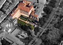 """vista aerea del condominio """"Parco Salesiani"""""""