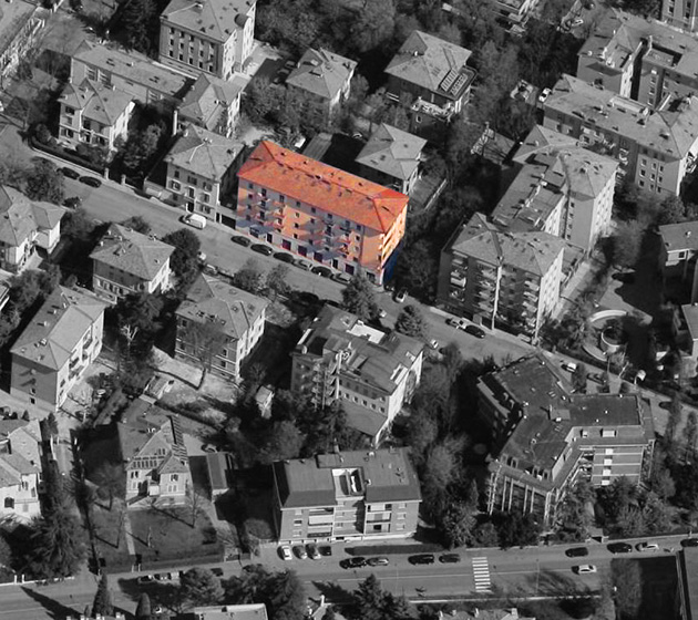 """vista aerea del Condominio """"Prampolini 211-213"""""""