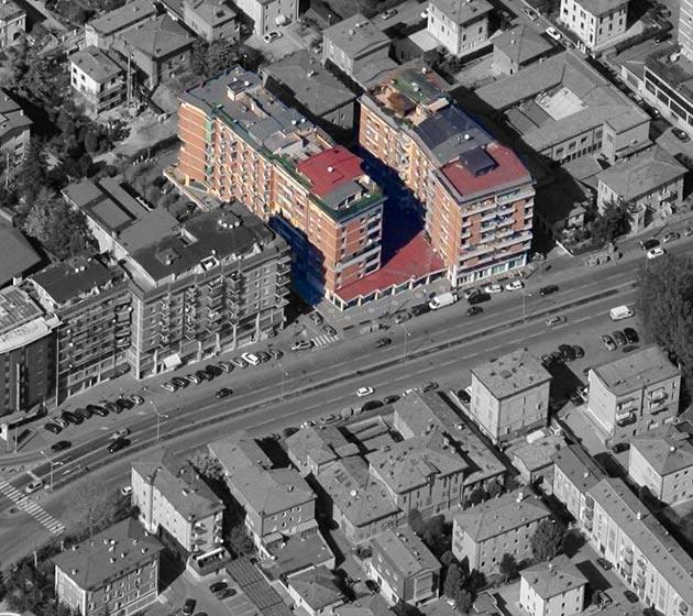 """vista aerea del condominio """"Donatello"""""""