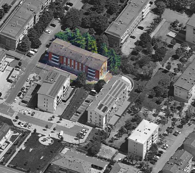 """Vista aerea del condominio """"Michele Fusco 115-117"""""""
