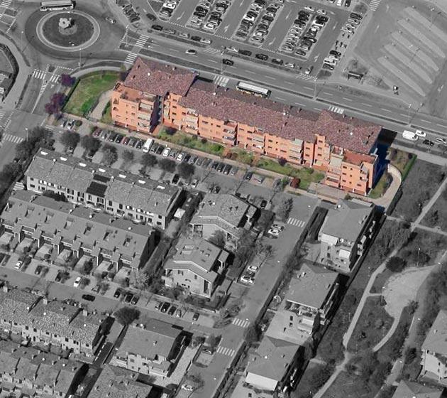 "vista aerea del condominio ""Galilei"""