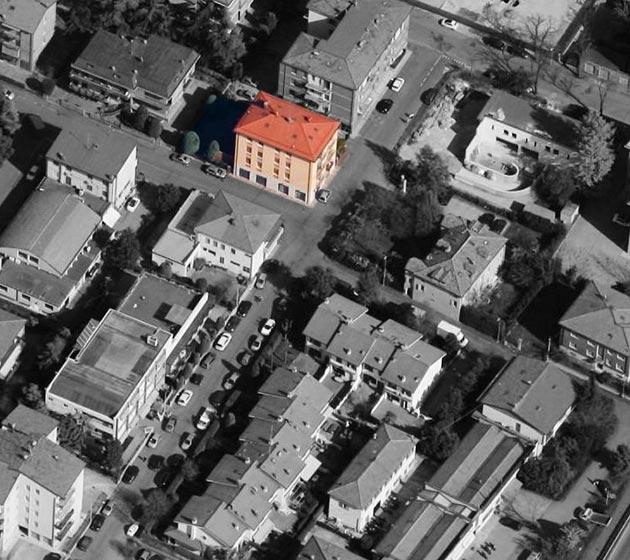 "vista aerea del condominio ""Lulli 91"""