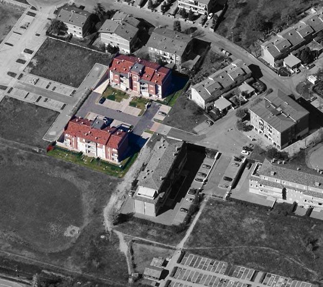 """foto aerea del condominio """"Orione-Andromeda"""""""