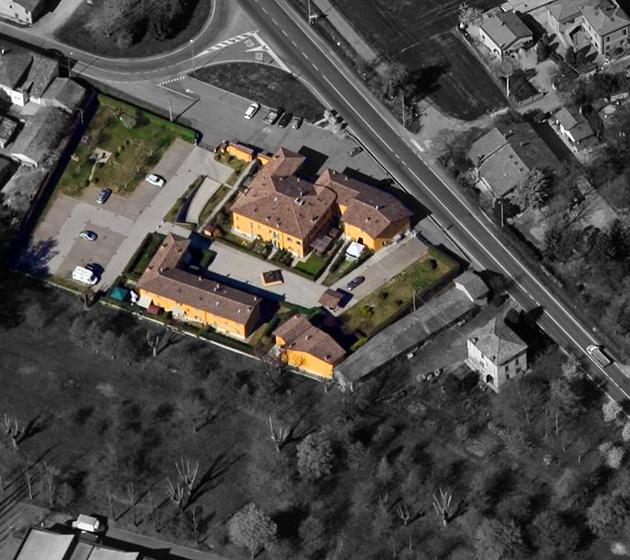 "Vista aerea del condominio ""Ponte Basso"""