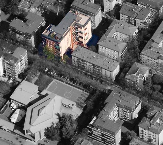 "vista aerea condominio ""San Pio X"""