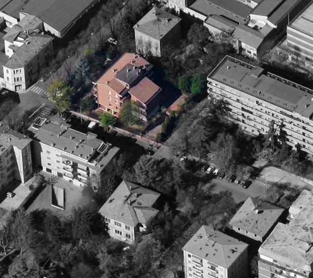 """Vista aerea del condominio """"Edera"""""""
