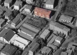 """Vista aerea del condominio """"Santa Rita"""""""