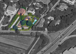 "Vista aerea del condominio ""Borgo S. Giacomo"""