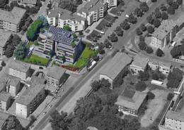 """Vista aerea del condominio """"Urban Villas"""""""